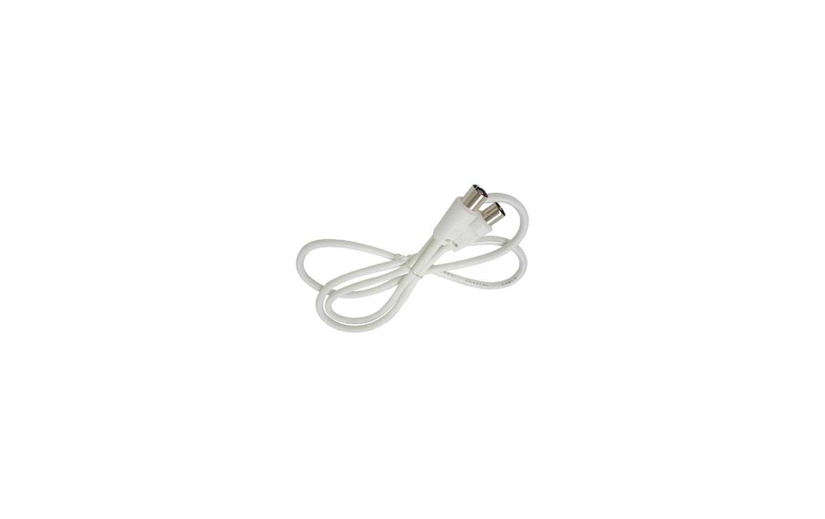 CABLE CA2. Cable coaxial color blanco 2.5 Mts.  Prolongador