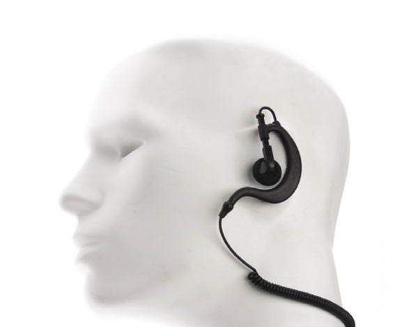 Nauzer PIN-29-S. High quality micro-earphone with PTT. For MIDLAND handhelds