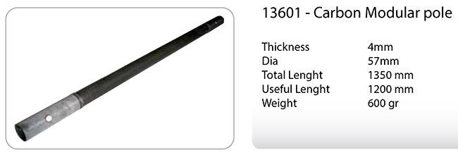 13601 mastil telescopico de carbono longitud unidad1,20 mts modular mast ultralight.