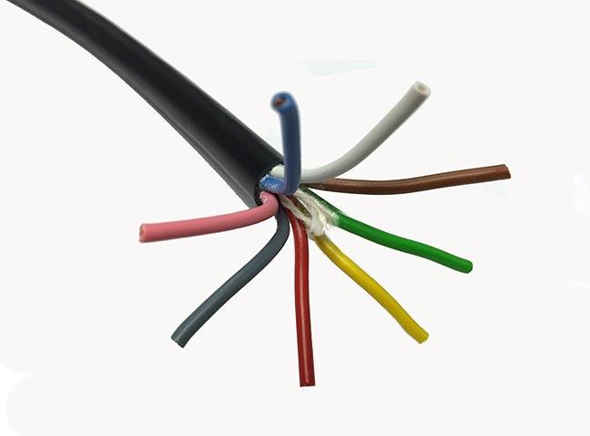 carotor8. cable para rotores manguera de 8 hilos.