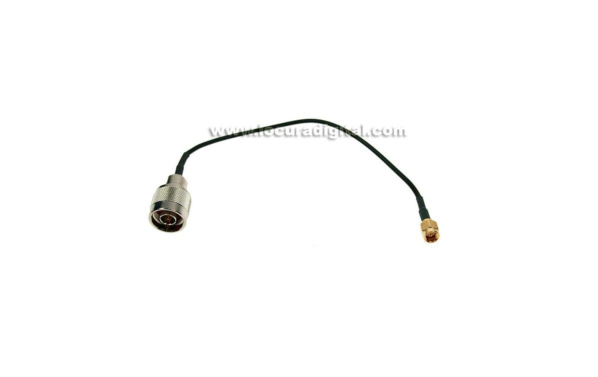 CAWIF-0719 MIRMIDON cable RG174. 20 cms.N MACHO - SMA MACHO estandar