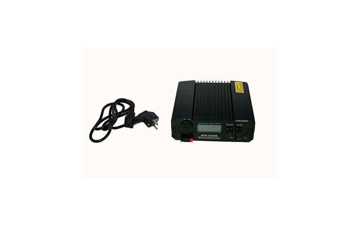 mps2530d mirmidon fuente alimentación conmutada display 220volt ac/13,8dc (regulable 9-15 v), 30 amp.