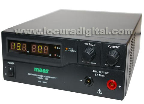 MAAS HCS-3600 Digital Switching Power Supply. 1 - 15 Volts / 0 - 60 Amps.