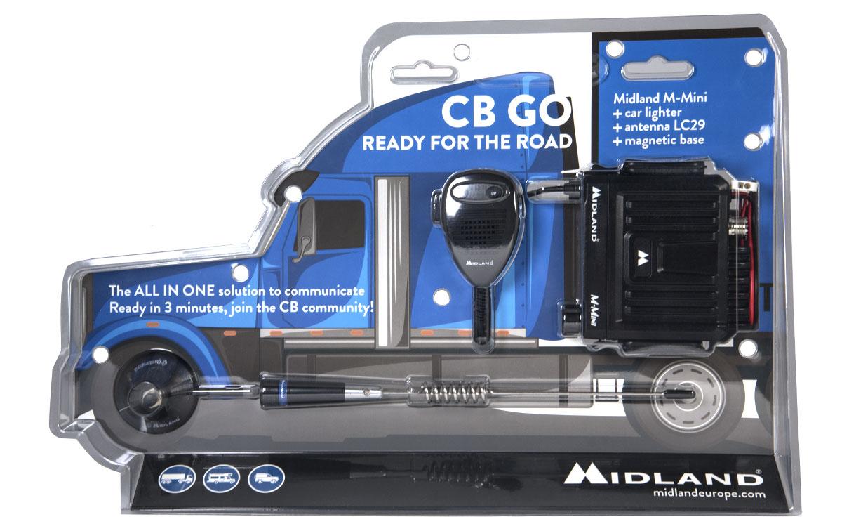 midland- cb-go tranceptor mini antena lc29 base magnetica.