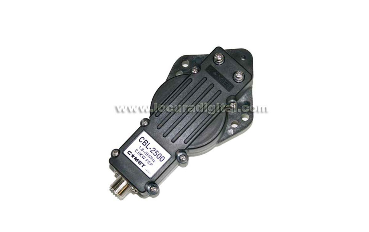 Incluye COMET CBL-2500 balum Impedancia 50 ohm Relación: 1:1 Conector PL Hembra Frequencia: 1.8 ? 56 MHz