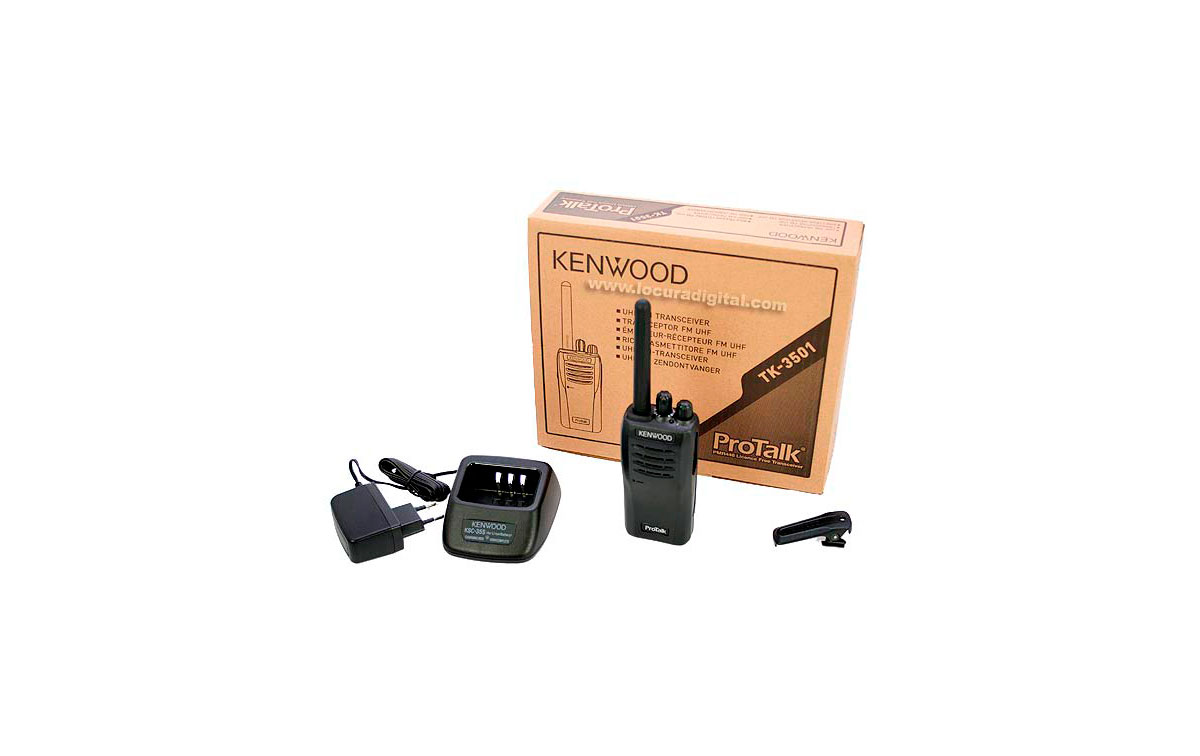 TK3501 KENWOOD Walkie Analógico PMR446 Uso libre + Pinganillo
