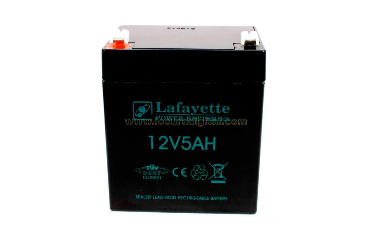 SW1250 LAFAYETTE batería recargable 12 voltios, 5 amperios