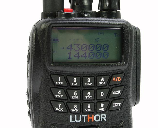 LUTHOR TL 66 HAMMER Walkie doble banda VHF/UHF. IP 65 BATERIA ALTA CAPACIDAD TLB 409