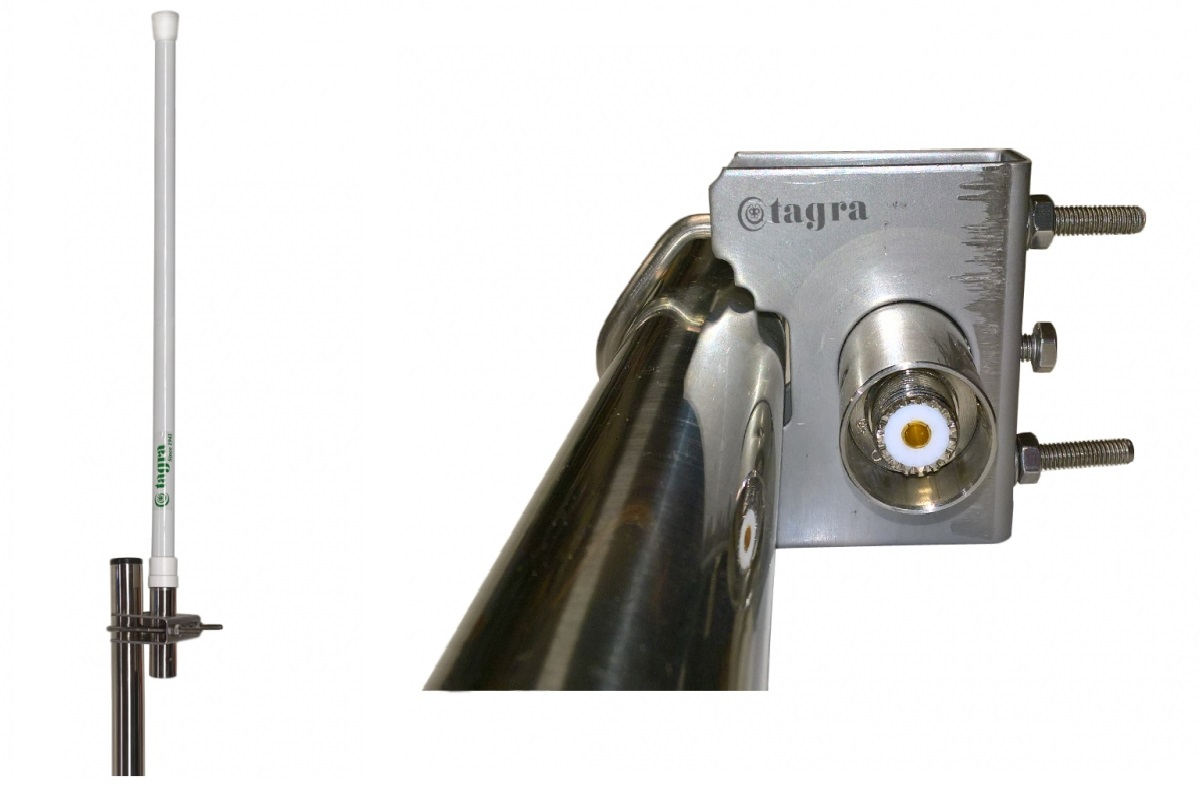 cf-34tb tagra antena colineal fibra, calidad profesional, toda banda 140-174 mhz.