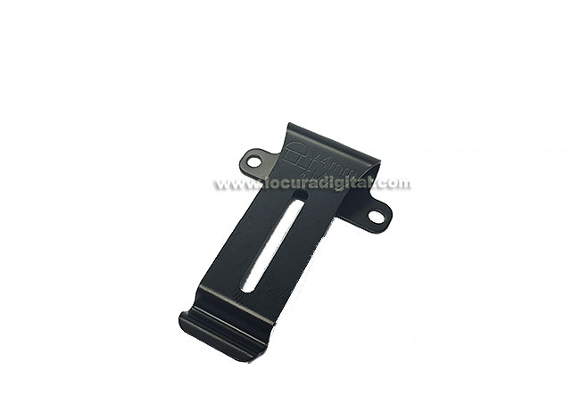 CLIPTHF7. Clip de cinturón para walkie talkie Kenwood THF-7, SIN TORNILLOS