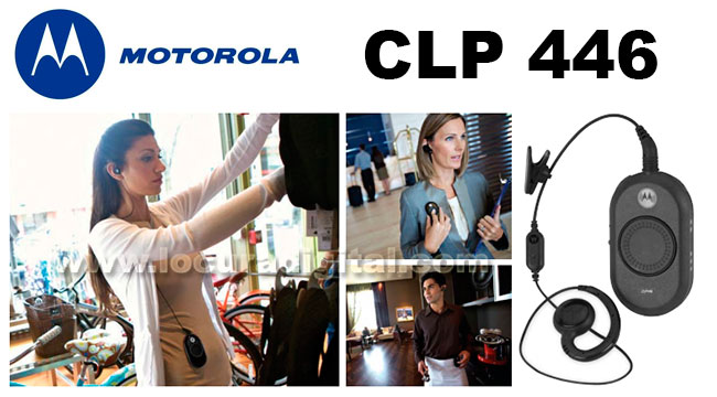 motorola clp446 walkie compacto de uso libre pmr446, tamaño reducido.
