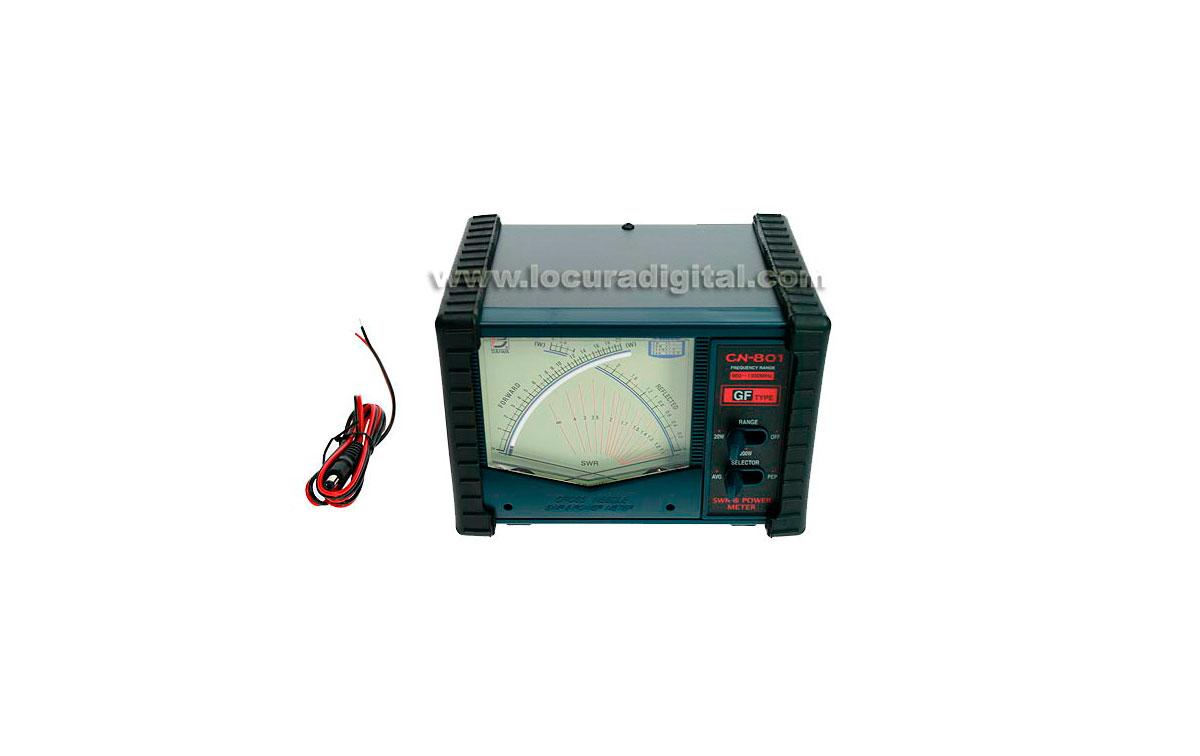 CN801-GF DAIWA medidor de ROE y POTENCIA de 900 a 1300 Mhz. CONECTORES TIPO