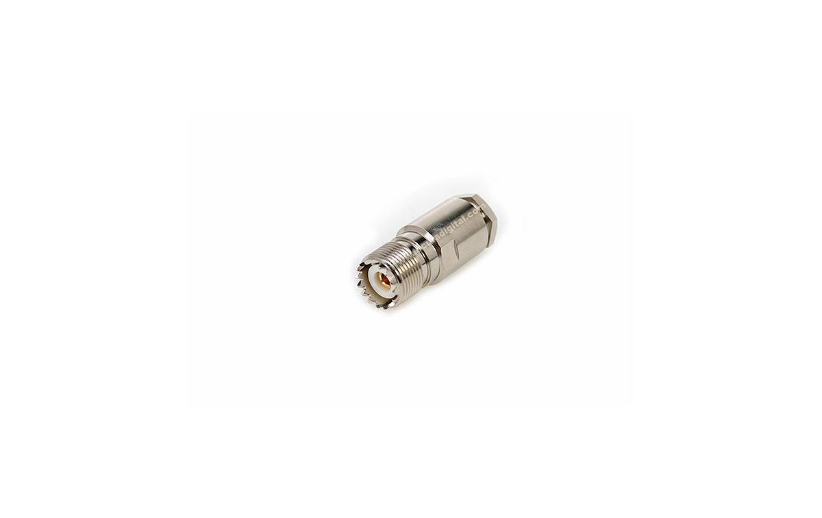 CON02076184 MARCU Conector PL HEMBRA soldar.Para cable RF-400UF y RF-400LRP, cable diametro 10,3 mm