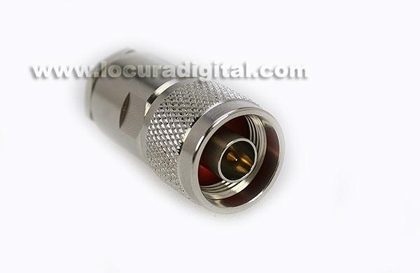 con02080004 marcu conector alta calidad n- macho para soldar, cable diametros 10,3 mm vivo 3 mm