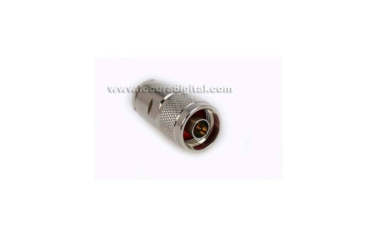 CON02080002 MARCU Conector N- MACHO para soldar.Para cable RF-287 UF, para cable diametro 7,3 mm viv