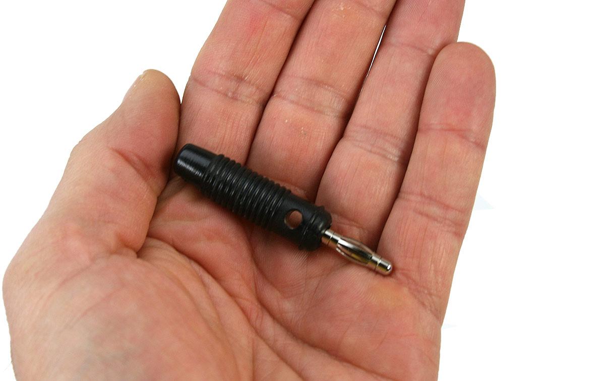 CON0809 Banana negro biconexion cable interior 2 mm