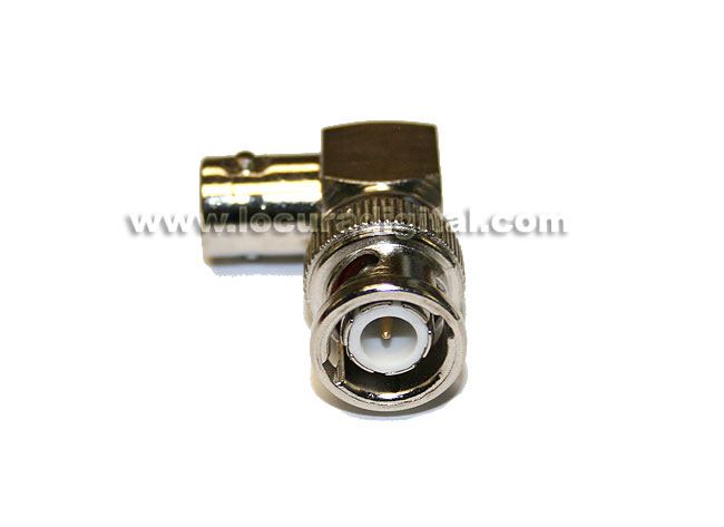 CON1215 BNC elbow adapter to BNC MALE FEMALE