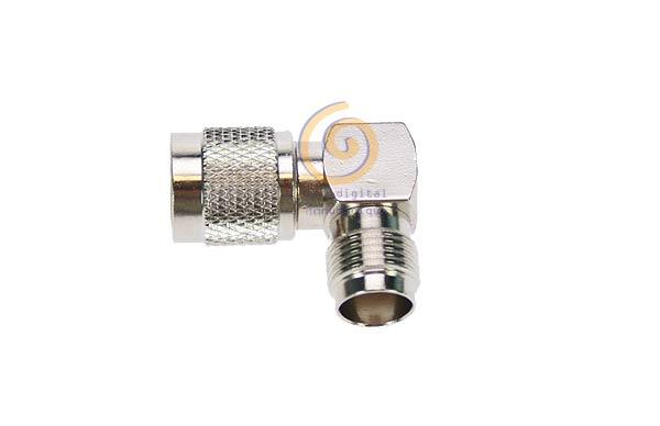 CON1257 Adaptador TNC macho - TNC hembra acodado