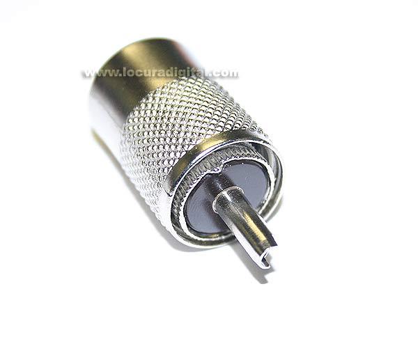 CON1312 conector PL-259 para RG-213, alta qualidade, isolamento BAQUELITE