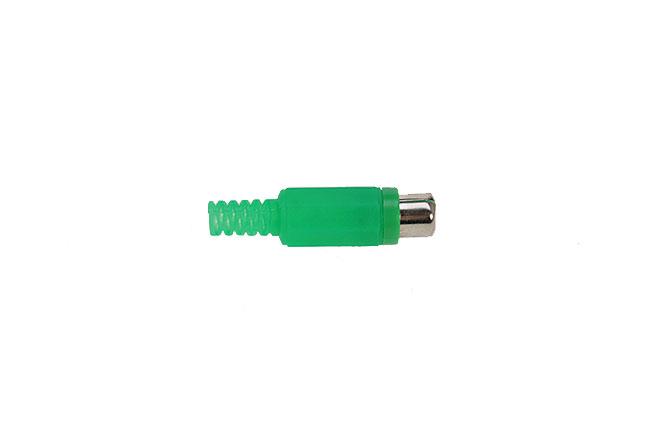 CON2073171 Conector RCA hembra a�reo. Cubierta de pl�stico color VERDE