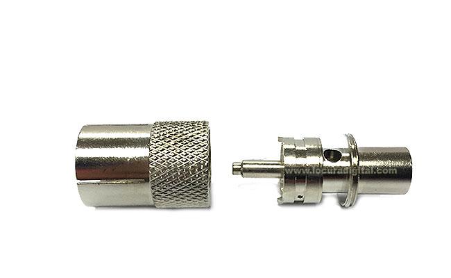 CON3017 Conector PL macho rápido, para conectar y desconectar rápidamente