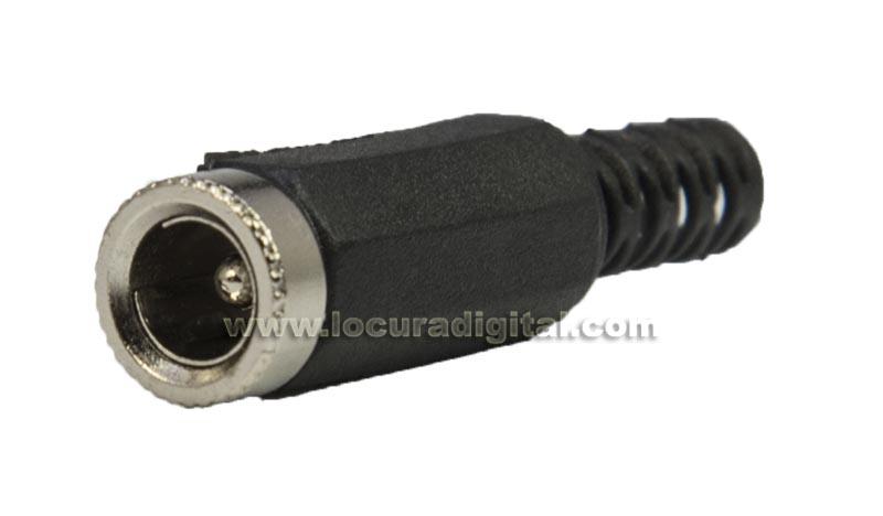 CON3379 Conector Jack de alimentación Hembra Aereo. 9 mm. x pin 2,5 mm.