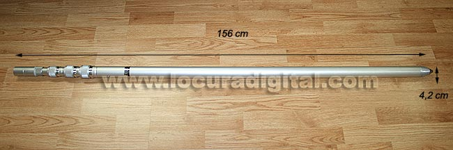 CP-60L COMET 6 meters of aluminum telescopic