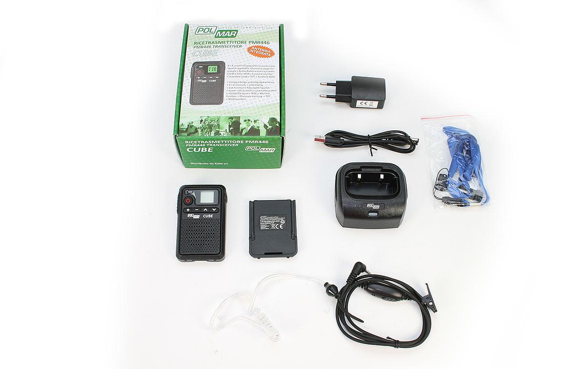 polmar cube walkie talkies pmr-446 uso libre 8 + 8 canales