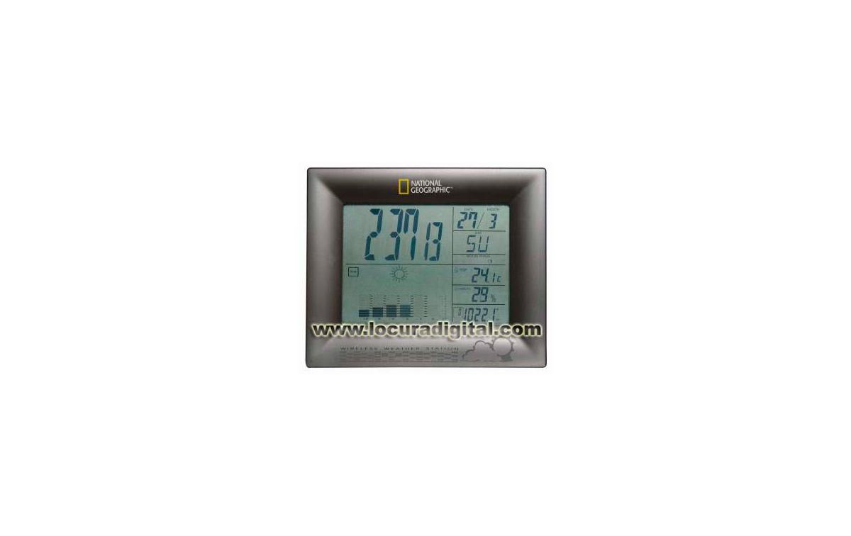 IN102 Estación Meteorológica con barómetro, higrómetro y termómetro National Geographic