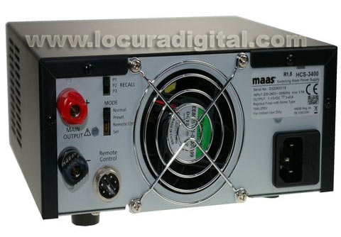 MAAS HCS-3400 Digital Switching Power Supply. 1 - 15 Volts / 0 - 40 Amps.