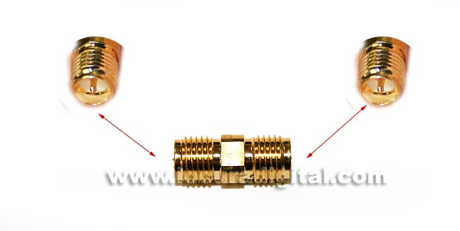 CON3695 Adapter SMA FEMALE REVERSE SMA FEMALE REVERSE
