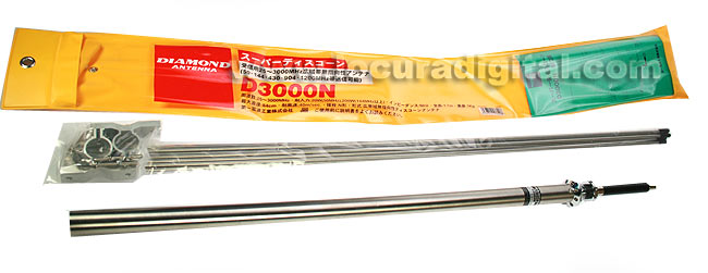 D3000N DIAMOND antena de escaner 25 - 3000 mhz
