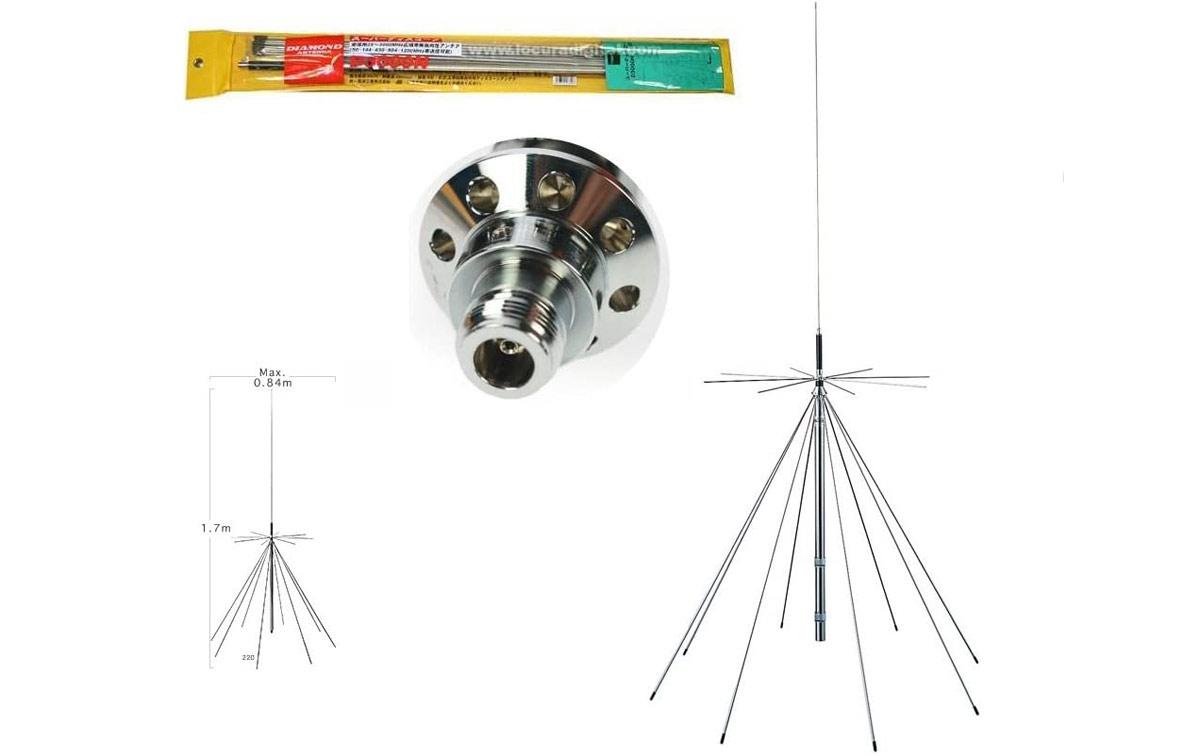 Diamond D3000N antena de escaner 25 - 3000 mhz conector N hembra