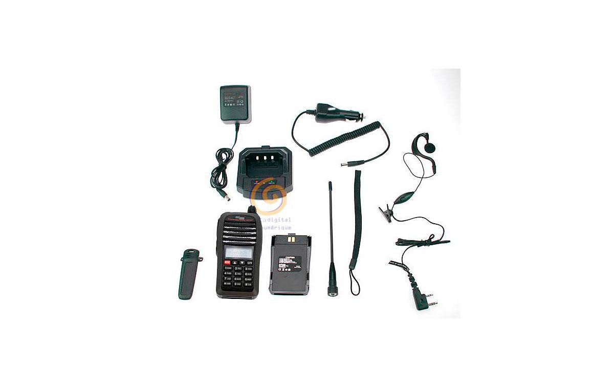 DB32G KIT1 POLMAR Walkie bibanda VHF/UHF + PINGANILLO