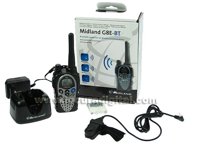 MIDLAND G8E-BT PMR 446 FREE USE HANDHELD WITH BLUETOOTH