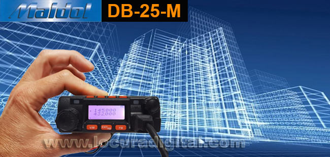 maldol db-25-m emisora bibanda vhf/uhf144/430 potencia 25w ultracompacta