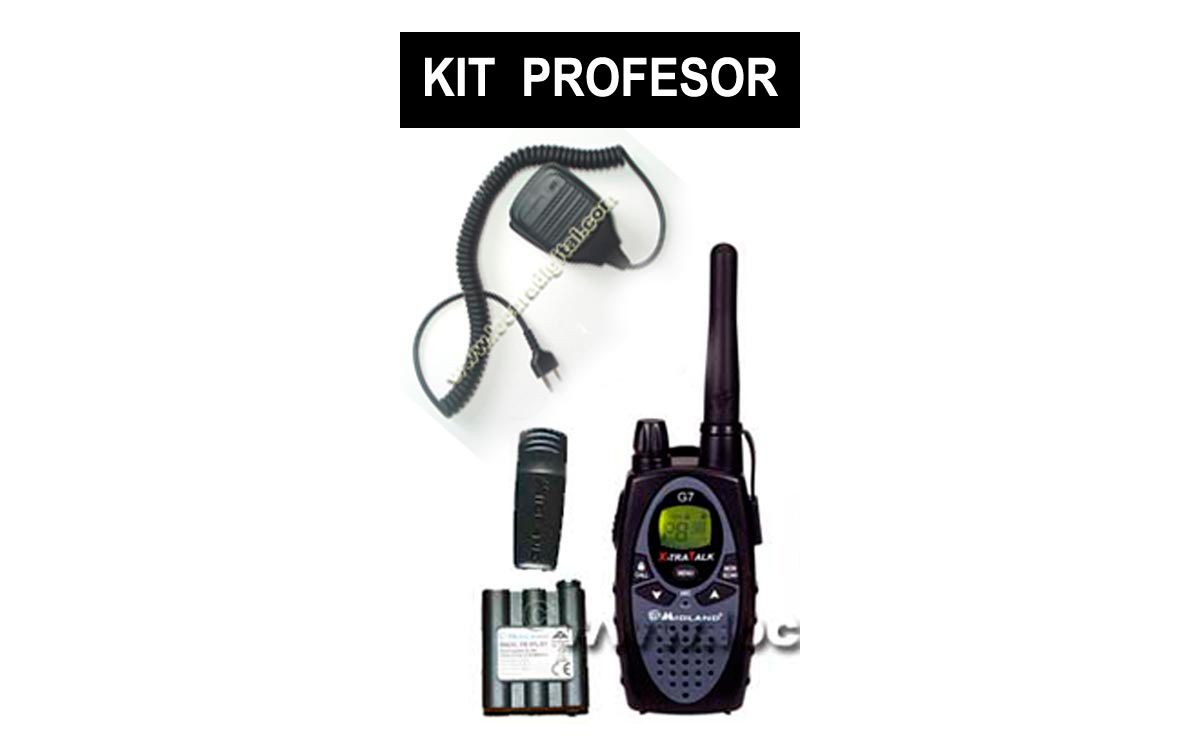 MIDLAND ALAN G7 X-TRATALK XT.Kit formado por: 1 walkie + clip cinturon + cargador sobremesa + baterí