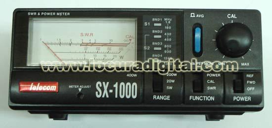 Medidor R.O.E. / Watimetro  Frecuencia desde 1,8-160 / 430 -450 / 800-930 / 1240-1300 Mhz.  SX1000 -