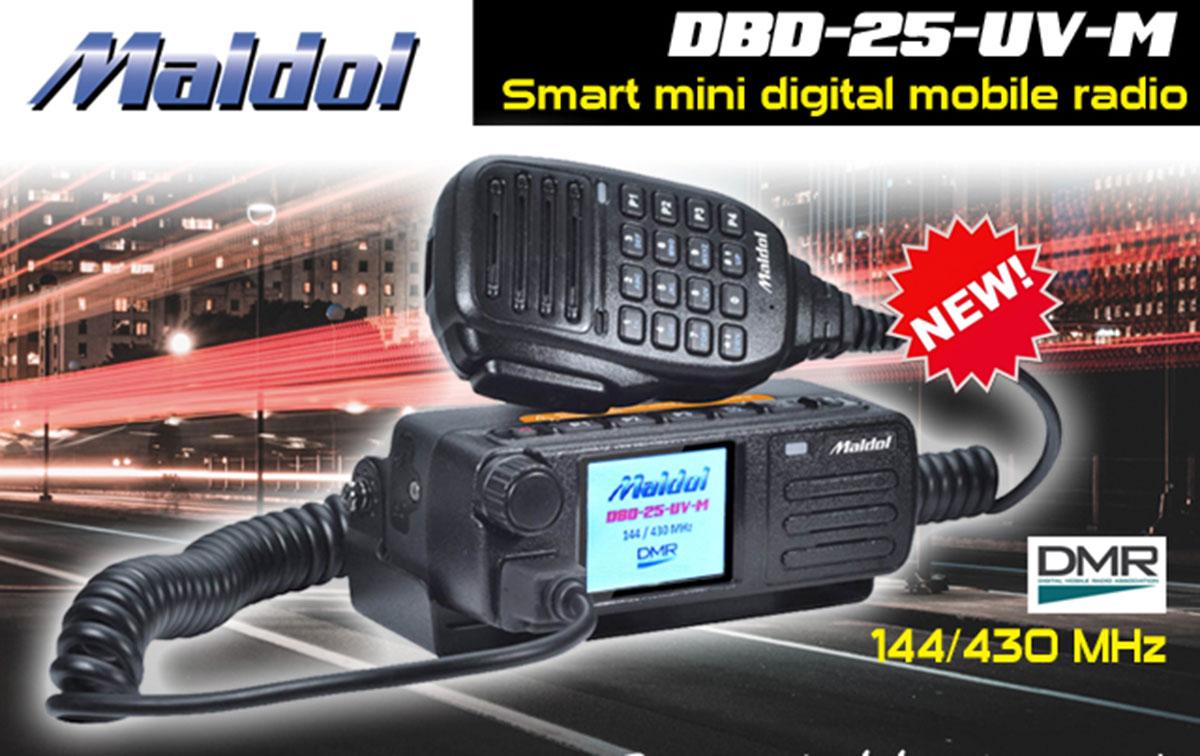MALDOL DBD25 DMR Emisora bibanda Analogica y Digital VHF144 /UHF430Mhz