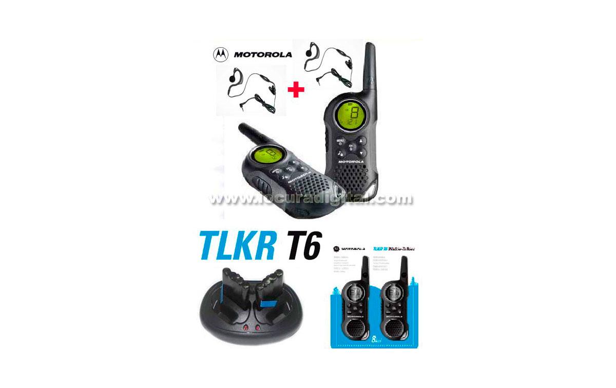 MOTOROLA TLKR T6 KIT1 ,  nuevo modelo. WALKIE USO LIBRE + REGALO DE 2 PINGANILLOS