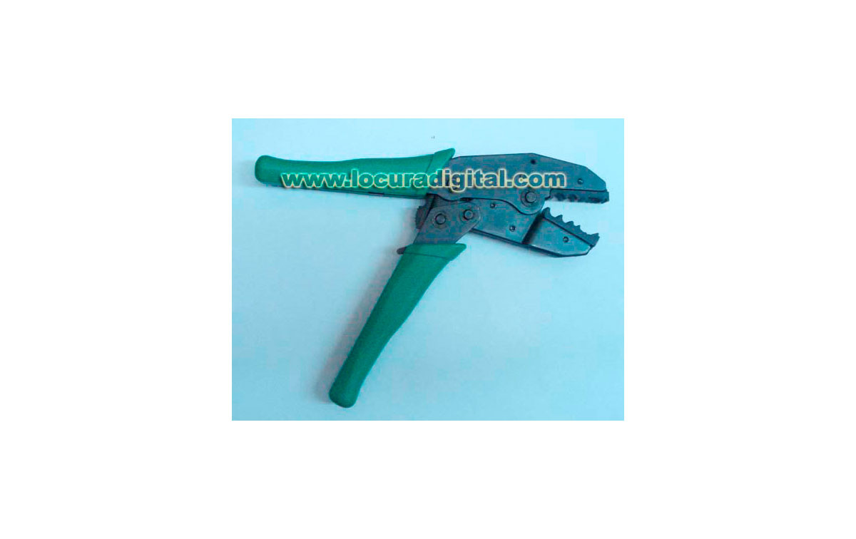 ALICATES PARA CRIMPRAR CABLE COAXIAL TIPO:  H155, RG-58, RG-59, RG-62 y RG-174