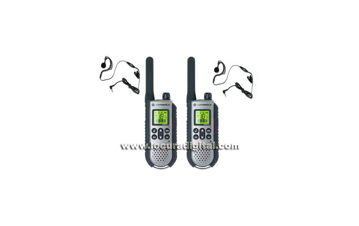 MOTOROLA TLKR T7 Walkie uso libre PMR 446 + 2 PINGANILLOS DE REGALO
