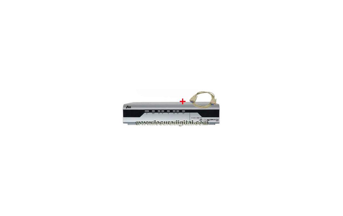 IRIS 9800 CAS Receptor Satélite dotado de lector de tarjetas residente + CABLE NULL MODEM