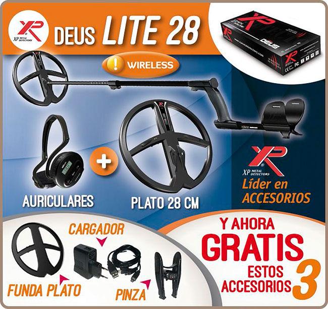 Deus XP LITE con auriculares y plato de 28 cm