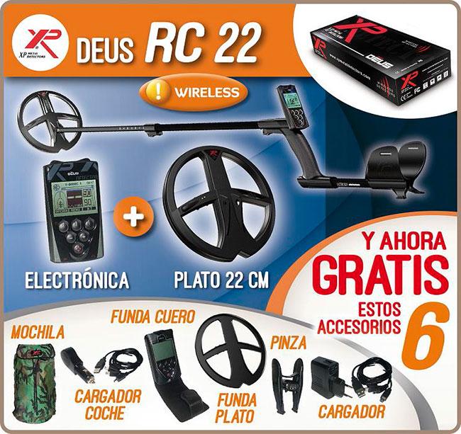 XP DEUS RC 28 METAL DETECTOR PLATO DE 28