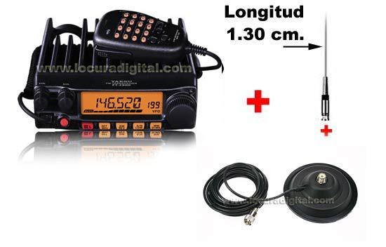 YAESU FT-2900E KITF VHF 144/146MHz POWER STATION 75 watts!  + MIRMIDON VH58 Mobile Antenna + 15CM MAGNETIC BASE BM150 + ANTENNA CONNECTOR PL259 + 130 CM ANTENNA VH58