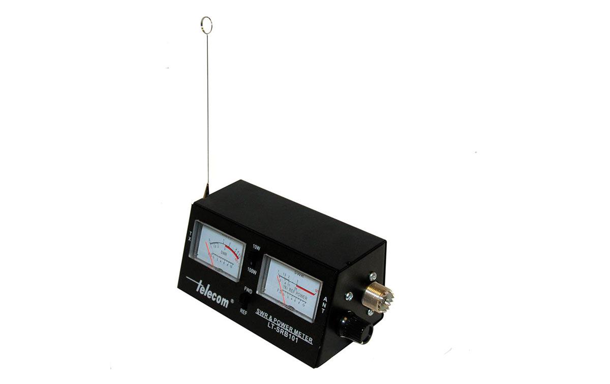 DF2461 Medidor ROE y watímetro para CB, con 2 instrumentos y escala de potencia 10/100 Watios