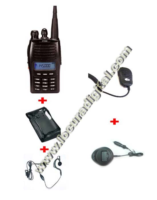 MIDLAND CT-210 VHF 144 mhz Handheld. 1 Handheld + Earphone + 1 Cigarette-lighter adapter + 1 Microphone