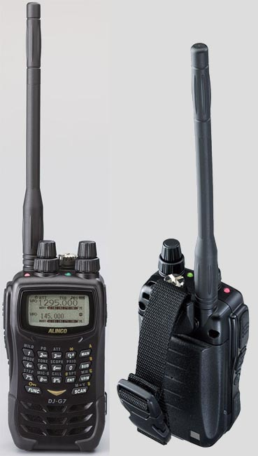 ALINCO DJG7 144MHz walkie talkie 5W / 4.5W 430MHz / 1200MHz Tri-band 1W.