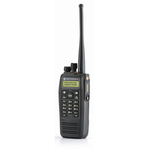 MOTOROLA DP-3601 Digital VHF handheld with keyboard and integrated GPS module